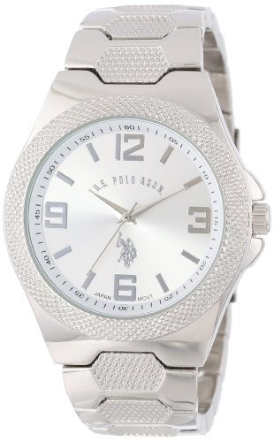 us-polo-assn-classic-mens-usc80009-rimmed-bezel-silver-dial-link-watch