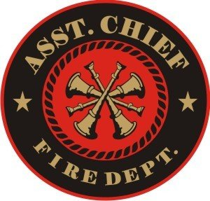 (Assistant Fire Chief Decal -)