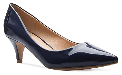 - OLIVIA K Women's Classic D'orsay Closed Toe Kitten Heel Pump | Dress, Work, Party Low Heeled Pumps | high Casual Comfortable Sale