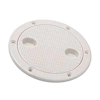 Jili Online 4'' Screw Out Deck Plate Access Hatch Cover White Plastic for Boat Cabin