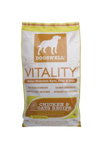 Dogswell Vitality for Dogs, Chicken & Oats Recipe Dry Dog Food, 22.5-Pound Bag