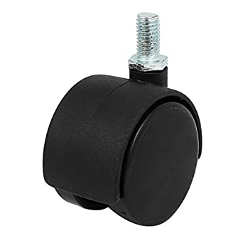 eDealMax 1,5 pulgadas de Doble diámetro de la rueda de tornillo rotativo montado en