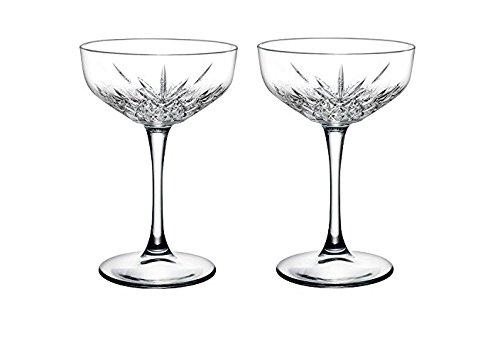 'Pasabahce 440236–Cubitera para champán Timeless en cristal de diseño, altura aprox. 15,7cm, (2unidades, cristal