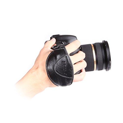 Micnova MQ-GS4 Genuine Leather Grip/Hand Strap for DSLR Cameras (Tripod Mount Attachment) {Style#4} from Micnova