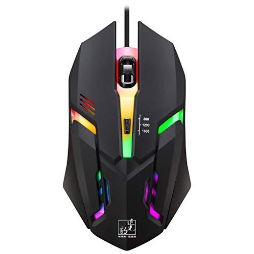 Lefthigh Wired Mice LED Light 4 Button 1600DPI Optical USB Ergonomic Pro Esports Mouse