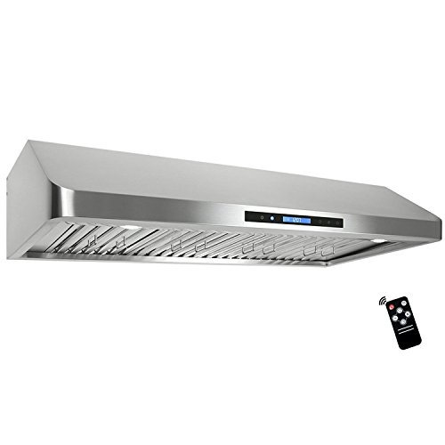 Full Range Cabinet (Cosmo 48 in. 1200 CFM Ducted Under Cabinet Range Hood in Stainless Steel with Touch Panel, Kitchen Vent Cooking Fan Range Hood with Remote Control, Permanent Filters and LED Lighting)