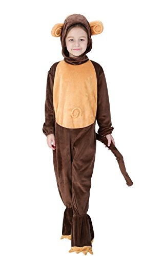 Joygown Unisex Cute Animal Monkey Cosplay Costume for Halloween Birthday Party for Boys Girls XS