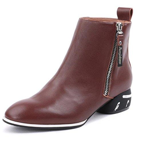 XUANShoe L&L Women's Boots Female Rough Rough Female with Single Shoes Martin Boots Fashion Wild Female Boots Large Size B07H6N3PG2 Parent ccc688