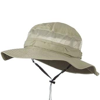 8267c717 Juniper UV 50+ Side Mesh Talson Bucket Hat - Khaki at Amazon Men's ...