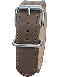 Bertucci DX3 B-9 Montanaro Survival Leather Olive Brown 22mm Watch Band