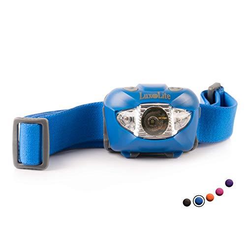 (Running Headlamp LED Flashlight Headlight Running Light - Bright, Waterproof, 6 Light Modes with Red - Running Headlamps - Running Night Gear for Runners, Joggers, Dog Walking, 3 AAA Batteries Incl.)