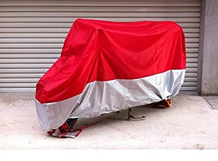 Amazon com: M Red & Silver Motorcycle Cover For YAMAHA