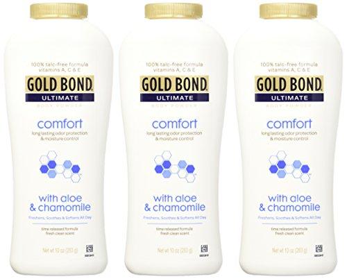 Artesanato Zenir Disarz ~ Gold Bond Ultimate Comfort Body Powder, Aloe, 10 Ounce Bottles (Pack of 3) Health Beauty