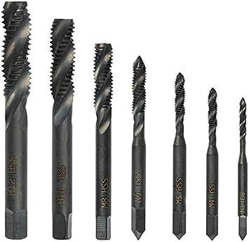 10pcs Hex Shank Drill Bit Metrics Screw Thread Tap Titaniums Coating HSS Tapping Tool Hex Shank Screw Tap Drill Bit M10-8.5