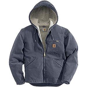 Carhartt Men's Big & Tall Sherpa Lined Sandstone Sierra Jacket J141