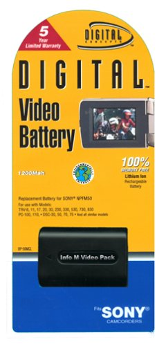 (Digital Concepts Battery for Sony NPFM50  1200)