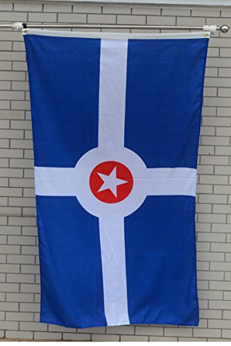 Indianapolis Flag (Fyon Large City of Indianapolis Flag 3X5Ft)