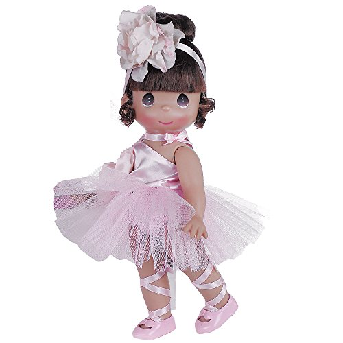 The Doll Maker Precious Moments Dolls, Linda Rick, Ballerina Bliss Brunette, 12 inch Doll