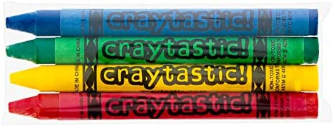 75 4-Packs of Premium Crayons (Red, Green, Blue, Yellow) SAFETY TESTED COMPLIANT WITH ASTM D-4236 (300 Total Crayons)