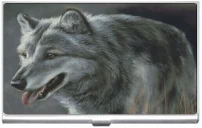 New Grey Wolf Business Credit Card Holder Case