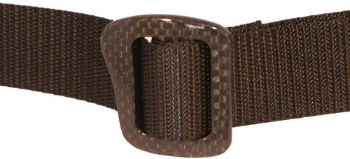 Bison Designs 30mm Carbonator Web Belt with 100-Percent Carbon Fiber Buckle (Black, 42-Inch Maximum Waist/Large)