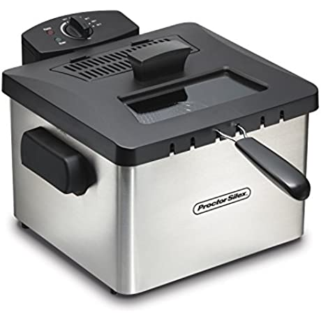 Proctor Silex 35044 Professional Style Deep Fryer With 5 L Capacity Silver