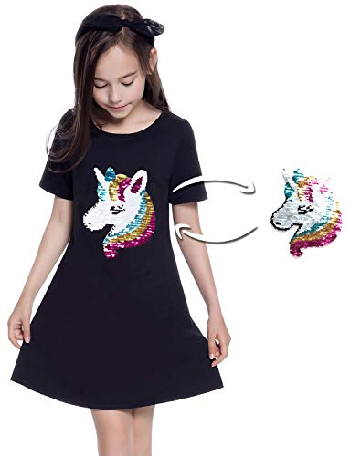 Unique Clothing For Girls - Flippy Sequin Shirt Dresses for Girls