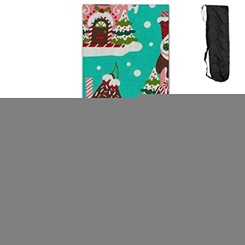 Holiday Gingerbread Houses,Eco-Friendly Non-Slip Yoga Mat Thick Pro Exercise and Pilates Mat with A Yoga Bag Waterproof Yoga Mats Fitness ()
