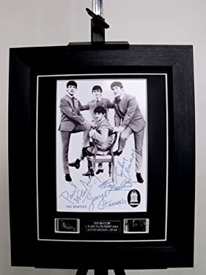 The Beatles Signed + Beatles Film Cell Limited Edition Framed by artcandi