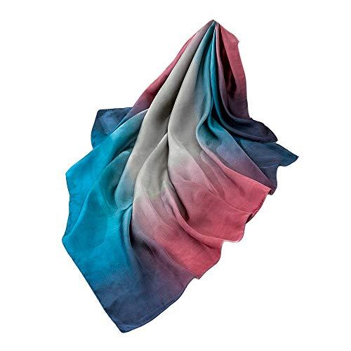 Chic F Pa de Elegante Mujer Bufanda Aimee7 Seda largo Shawls Ligera Color degradado uelo 8TOPA
