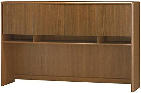 Bush Business Furniture Northfield 60W Credenza Hutch in Dakota Oak
