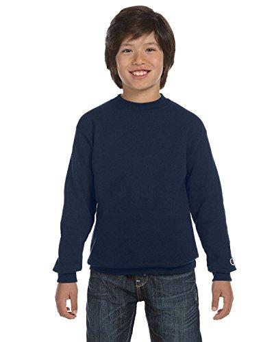 Champion Boys Big Boys' Powerblend Eco Fleece Sweatshirt, Navy, S
