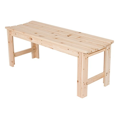 (Shine Company Inc. 4204N Backless Garden Bench, 4 Ft, Natural)