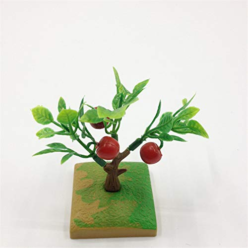 PatyHoll Creative Design 10Pcs Mixed Model Trees Train Railways Architecture Wargame Scenery Layout 6cm Fruit Tree