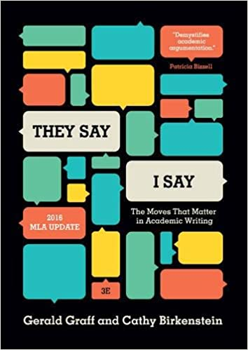 Amazon they say i say the moves that matter in academic they say i say the moves that matter in academic writing with 2016 mla update third edition third edition fandeluxe Gallery