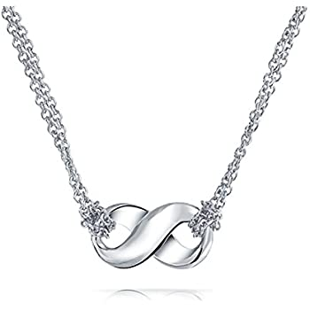 Figure Eight Infinity Pendant Sterling Silver Necklace 16 Inches