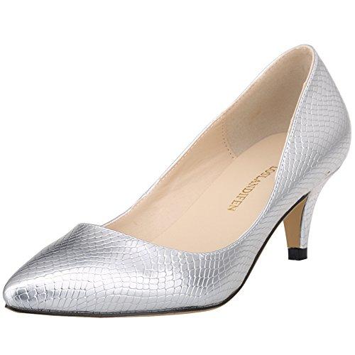 Ni678 pour 1XEY Silver Femme Escarpins Renly pdqwBp