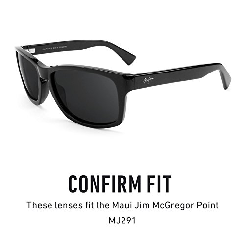 Opciones Jim de — Lentes MJ291 Point Negro múltiples repuesto Mirrorshield Polarizados Maui Chrome McGregor para rfqWnqzx4