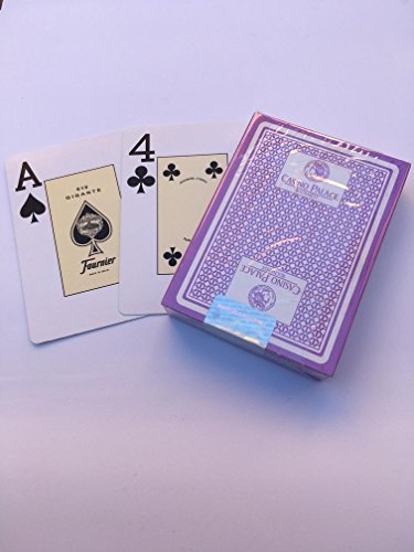 Limited Edition, Casino Palace Bucharest, Authentic Casino Playing Cards, No 818 Jumbo Index (Violet) Fournier