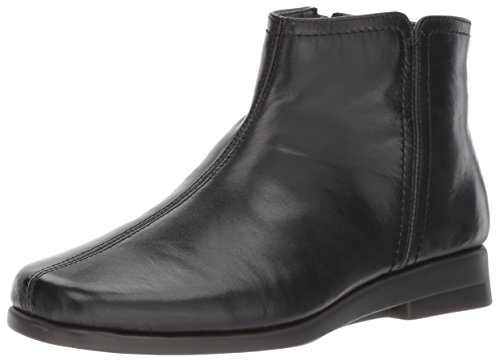 Aerosoles Womens Double Trouble 2 Ankle Boot Black Leather