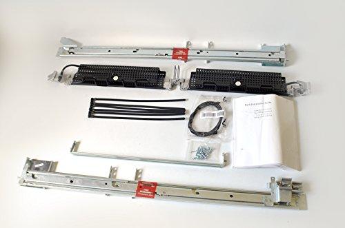 (NEW GJ183 Genuine OEM DELL PowerEdge 2850 Server 2U 2-Post Rack Rail Kit 7M509 3M953 3M954 4Y826 221VV 1P988 Metal Adjustable Flush Mounting Performance Complete Rail Kit H2847)