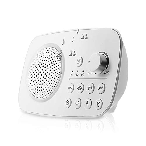 Teepao SP1803 Portable White Noise Machine, 8 Relaxing Soothing Nature Sounds, 1800mAh Battery Powered, Timer Sleep Sound Therapy for Home,office,Travel and Baby