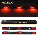 Partsam 2Pcs Truck Trailer ID Light Bar 3-lamp 9