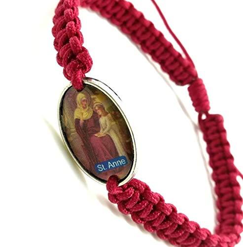 St Anne medal grandma gifts Saint Anne bracelet pregnancy protection bracelet