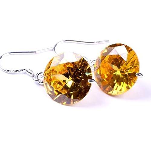 14mm Sharp Diamond section cut clear crystal pave shine dangle hoop earrings