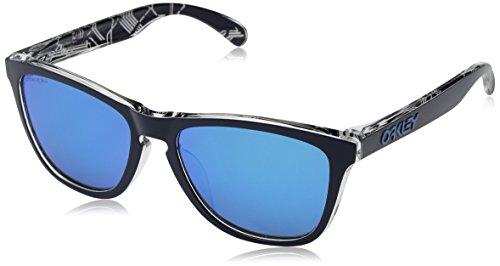Oakley Men's Frogskins (a) Non-Polarized Iridium Rectangular Sunglasses, UC MILAN NAVY, 54.5 ()