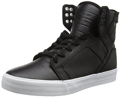 Supra Skytop Skate Shoe, Black/White, 5.5 Regular US by Supra