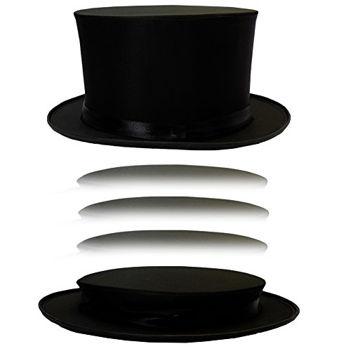[Costume Hats - Top Hat - Magician Costume - Collapsible Black Hat Magic Trick by Funny Party Hats] (Black Magic Woman Costume)