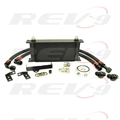 Rev9 2006 2007 Model only Subaru TURBO / NA - WRX STI EJ20 EJ25 19 Row Bolt On Oil Cooler Kit (Oil Racing Kit Cooler)