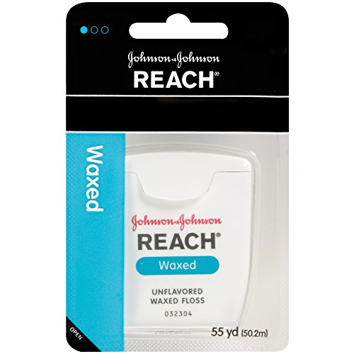 Reach Waxed Dental Floss Unflavored, 55 Yard (Pack of 12)